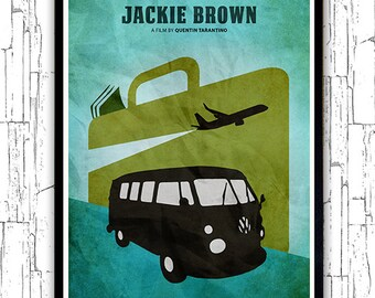 Quentin Tarantino Minimalist Movie Poster - Jackie Brown