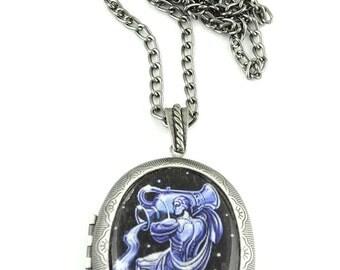 Aquarius Locket, Astrology Locket, Necklace, Aquarius Necklace, Aquarius Jewellery, Locket, Jewelry, Star Sign, Jewellery, Jewelry, Zodiac