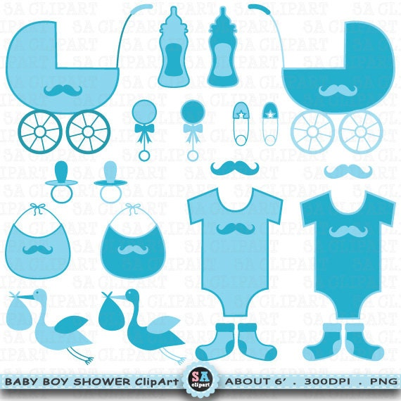 Baby shower boy clipart baby shower boyclip - Deco baby shower garcon ...