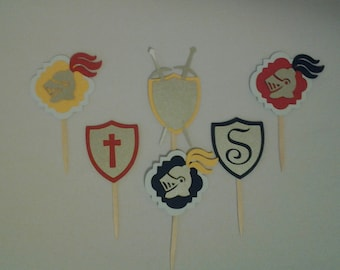Royal Knight Cupcake Toppers