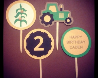 Down On The Farm Cupcake Toppers