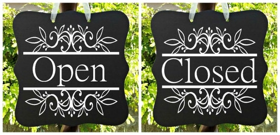 Open Sign & Closed Sign, Two Sided, Boutique Open Sign, Cafe Sign, Office Sign, Store Sign, Shop Sign, Salon Sign, Wooden Open Sign