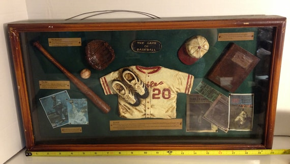 The Game Of Baseball Shadow Box Framed Under Glass For The