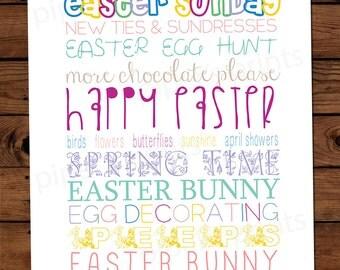 8x10 Print - Easter Word Art