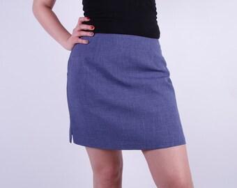 Sky Blue Skirt Midi Skirt Pencil Women Classic Zipper Skirt