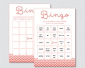 Chevron Baby Shower Bingo...