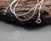 925 Sterling silver snake chain, different lengths