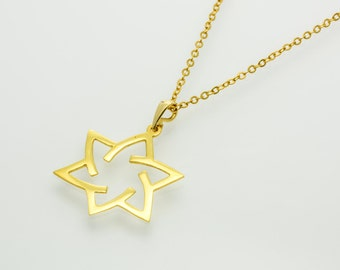 Star of David Necklace GOLD Filled 14K magen david necklace ,jewish jewelry, minimalist necklace judaica jewelry