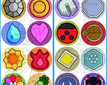 Pokemon Badge Buttons
