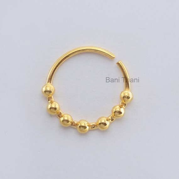 tribal septum ring septum jewelry gold plated 925 sterling