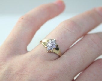 SALE Gold Diamond Ring Engagement Ring Wedding Ring