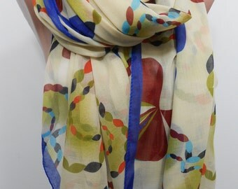 Soft Cotton Scarf Cowl Scarf Fall Winter Fashion Scarf Christmas Holiday Fashion Women Fashion Accessories Christmas Gifts For Her For Mom