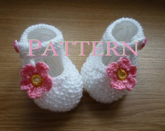 PATTERN ONLY ,White, Knit Baby boots, knit girls boots, knit Baby booties, pink, baby girls shoes , knitted baby shoes, handmade
