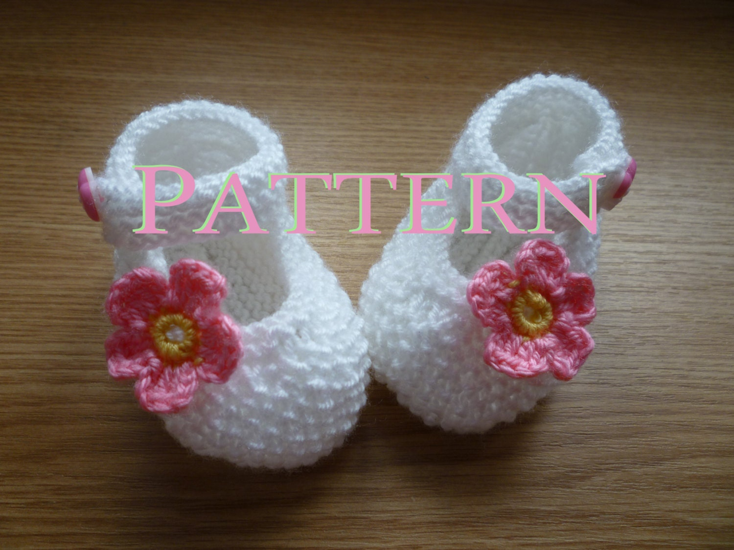 Baby Knitted Shoes Pattern : PATTERN ONLY White Knit Baby boots knit girls boots knit