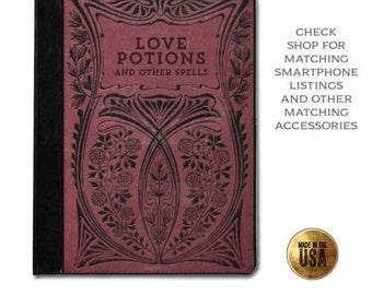 Vintage Book of Spells Love Potion grimoire victorian romantic protective tablet case (ipad 2 3 4, air, mini, Kindle Fire, paperwhite)