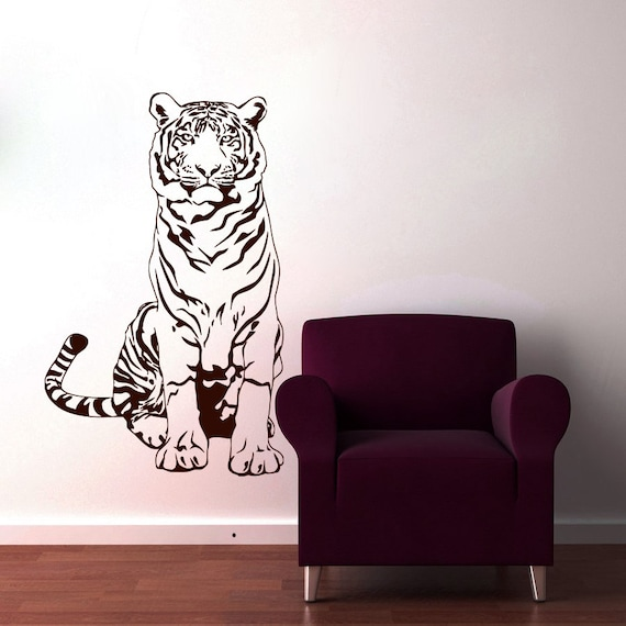 Tiger Wall Decals Wild Cat Decal Animal Vinyl Sticker by ...