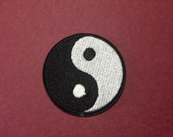 Iron on Sew on Patch:  Ying Yang