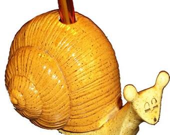Ceramic Snail Toothbursh or Pen Holder