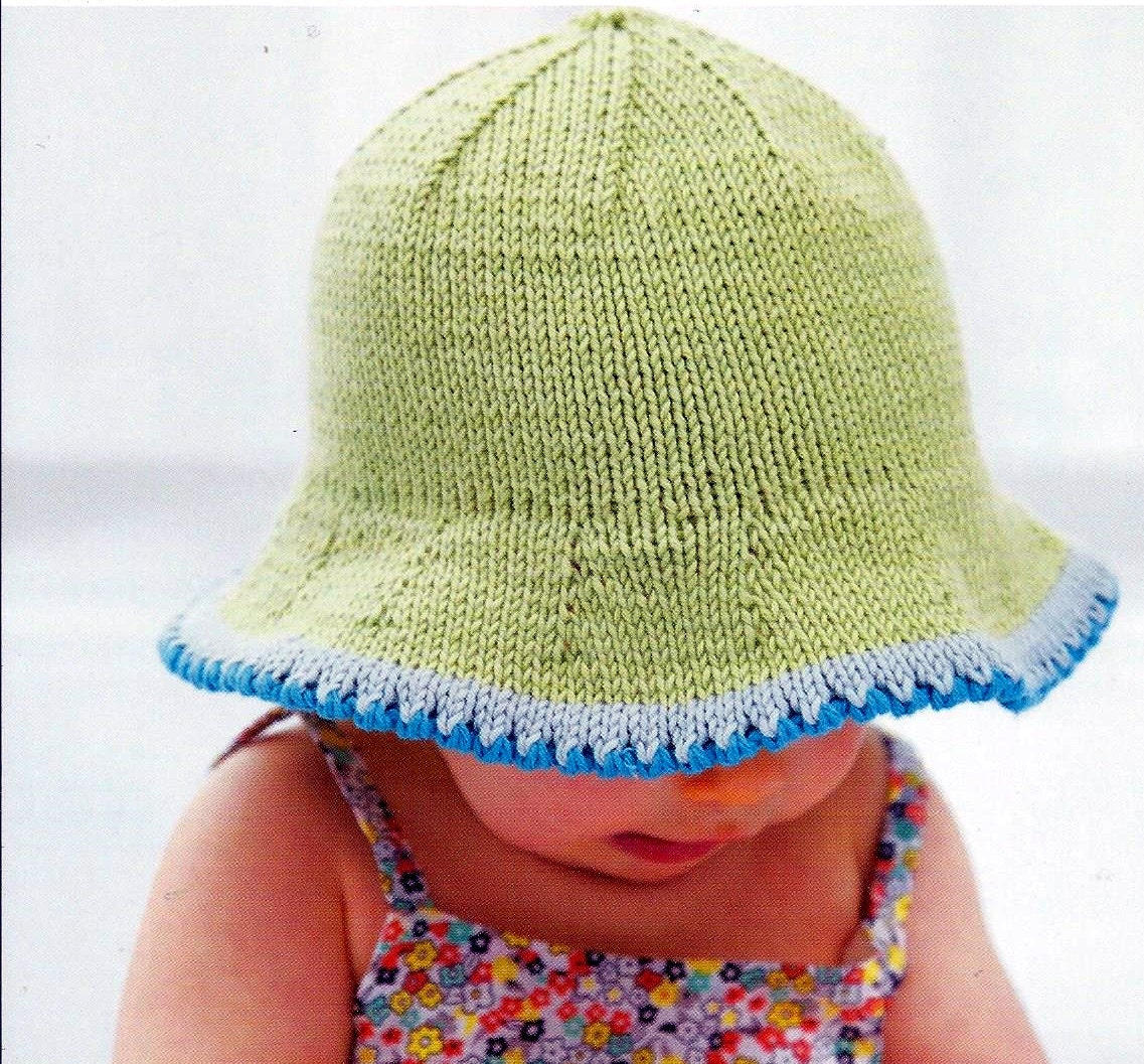 Knitting Pattern Baby Sun Hat : Instant Download - PDF- Baby Sun Hat Knitting Pattern (38) from PnAPatterns o...
