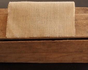 Rustic Burlap / Hessian Table Runner in customised lengths
