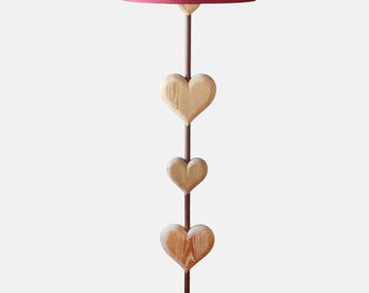 Heart shaped floor lamp - Shade not included