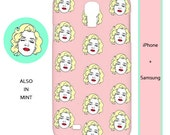 Marilyn Monroe iphone case,marilyn monroe,america,retro,vintage,pop art,mint,pink,iphone case,hipster,iphone 6,samsung,iphone,s5,hollywood,6