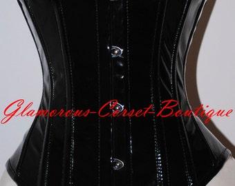 PVC Corset Waist Training 26 Steel Bones Underbust Waist Cincher Double Boned  Size XXS-3XL