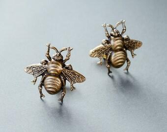Bee Cufflinks Steampunk Cufflinks Bee Gifts Men's Accessories Bee Cuff Links Statement Cufflinks Gifts for Him Men's Gifts