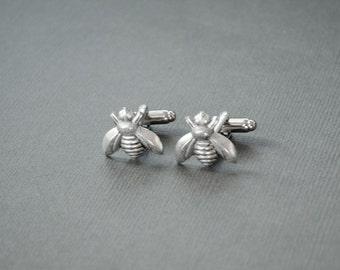 Bee Cufflinks Steampunk Bee Gifts Honey Bee Cufflinks Bee Jewelry Bees Men's Cufflinks Gifts for Him Statement Cufflinks Men's Gifts