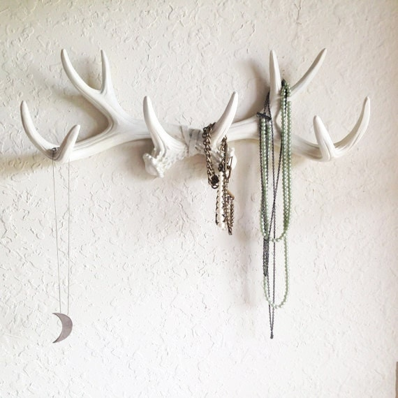 ANY COLOR Or WHITE Antler Wall Mount Rustic Wall Hook