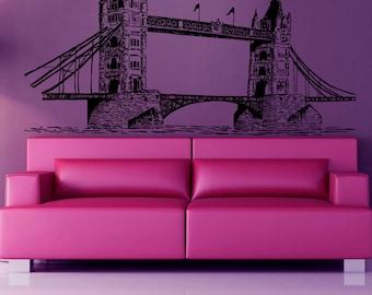 London Bridge Wall Decals London Interior Design England Living Room Wall Decor Vinyl Sticker Home Decor Wall Art Decor KG479