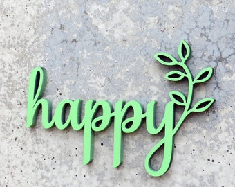 happy - 3D Wooden letters