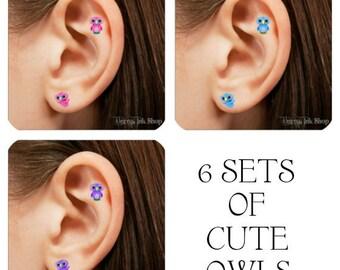 Temporary Tattoo 12 Owl Ear Ultra-Thin Quality Tattoos