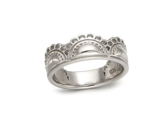 Unique Silver Ring, Silver Lace Ring,Holiday Gift, Gift fir Her