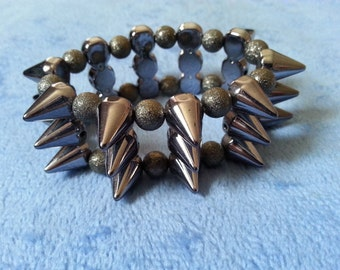 CLEARANCE: Spike elasticated bracelet by SerenitybyGJ