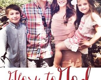 Glory to God Christmas Photo Card // DIY Printable