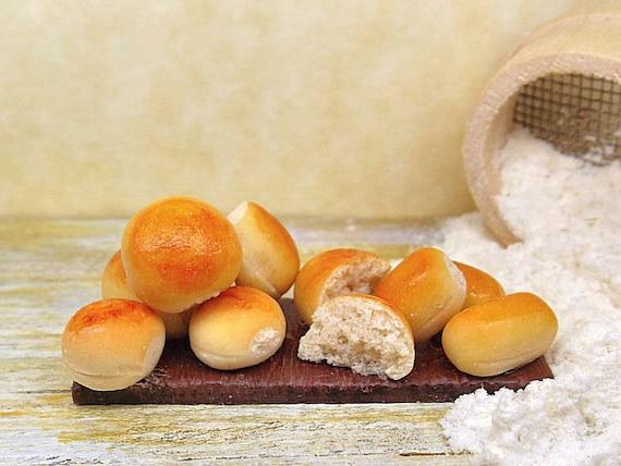 ... fimo scala 1:12, falso cibo realistico, pane morbido decorativo tavola
