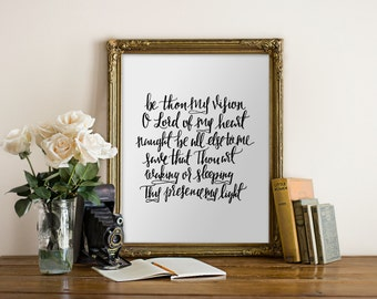 Be Thou My Vision Scripture Handwritten Christian Hymn Quote printable wall art // Printable verses, Bible, wall decor// Hewitt Avenue