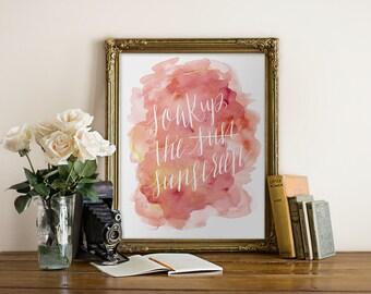 Printable Art Summer // Funny Wall Art, Handlettered, Typography, Sunscreen // digital art, wall print, wall decor // Peachpod Paperie