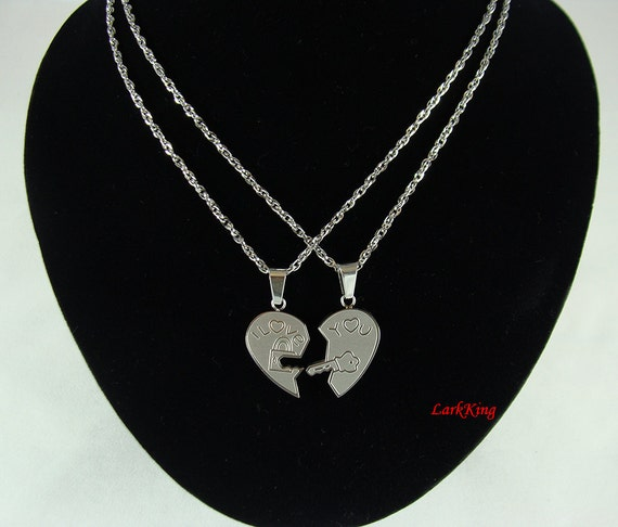 heart necklace for couples - photo #16