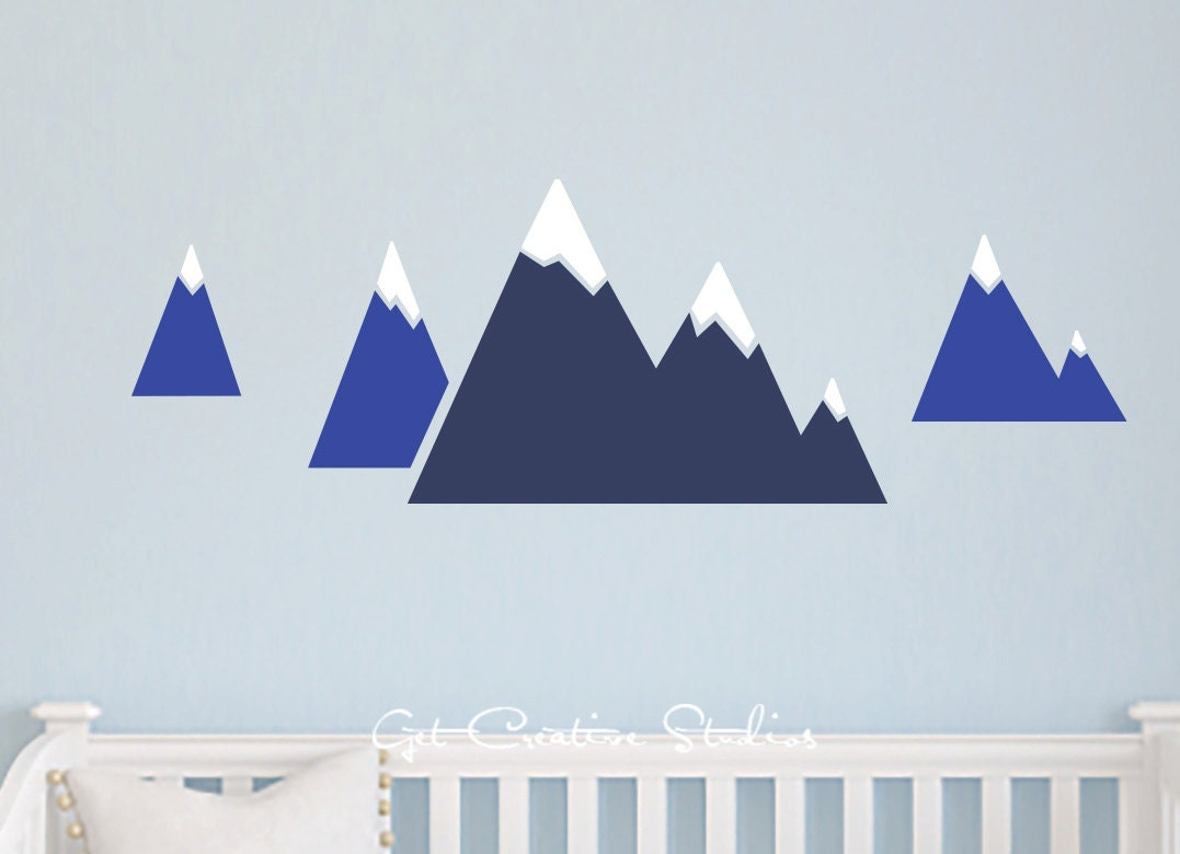 Alpine Mountain Decal Winter Decor Snow Mountains Decal Alps