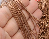 2 Mt 6,6 Feet Raw Brass Snake Chains (1,3mm) Cable Chains - Body Chains - Anklet Chains - Box chains - KJ43