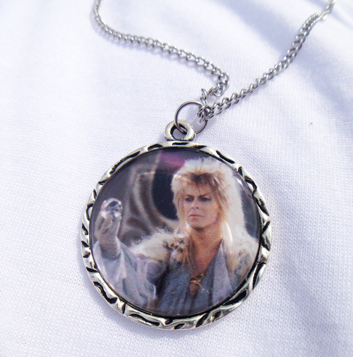 labyrinth david bowie jareth charm necklace with by