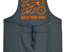 Build Your Own Down Hill Bike Mens Womens Apron Mtb Road Racing Bike Mechanic Cycling Clothing Workwear NEW