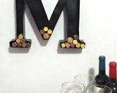 Metal Monogram Wine Cork Holder- Wedding Gift - Man Cave Decor - Bridesmaid Gift - Groomsman Gift