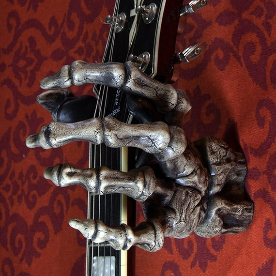 Ghastly Grips Grip Reaper Skeleton Guitar Hanger Wall