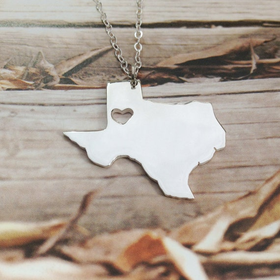 tx state necklace state charm necklace state shaped