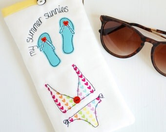 Personalised Summer Sunglasses Case - Sunglasses Case - Glasses Case - Bride to Be Gift - Birthday Gift - Personalised Sunglasses Case