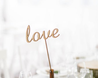 Wooden custom Table names with sticks