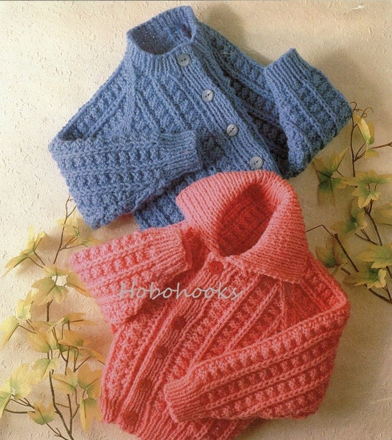 Knitting Pattern For Childs Chunky Cardigan : Childrens Knitting Pattern childs cardigan chunky by Hobohooks